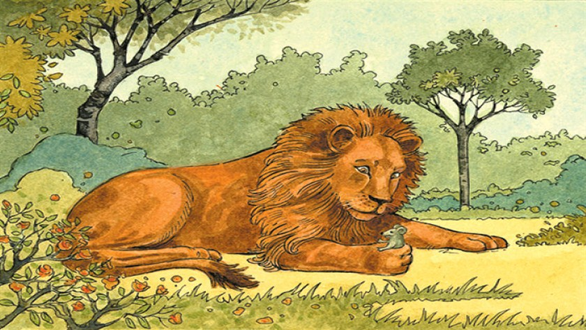 aslan-ile-fare-masal